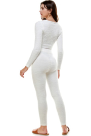 ACOA Whitney Fuzzy Crop Top - Back cropped