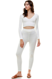 ACOA Whitney Fuzzy Crop Top - Side cropped