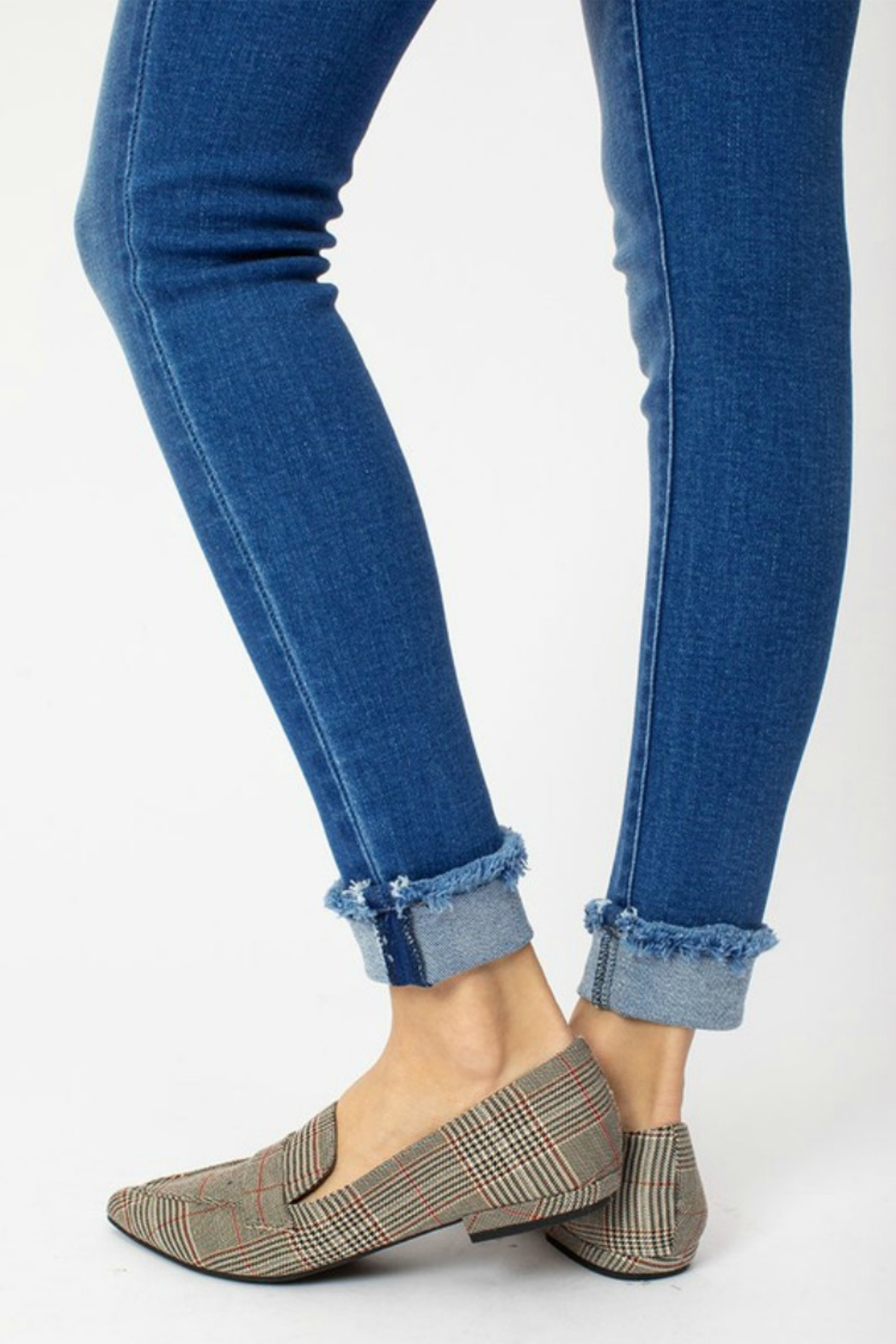 Kan Can WHITTNEY CUFF SKINNY - Back Cropped Image