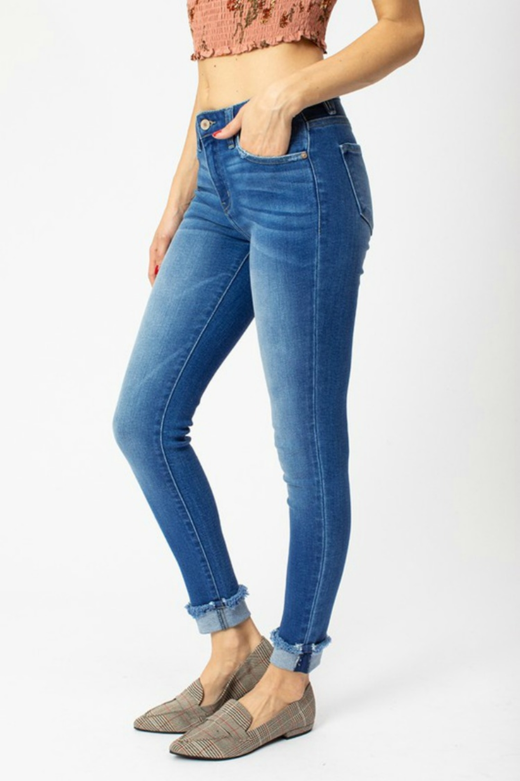 Kan Can WHITTNEY CUFF SKINNY - Front Full Image