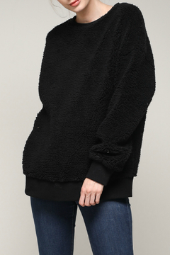 Shoptiques Product: Who Cares Fuzzy Pullover
