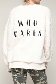 Mustard Seed Who Cares Fuzzy Pullover - Product Mini Image