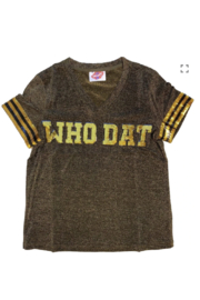 Sparkle City Who Dat Glitter Tee - Product Mini Image