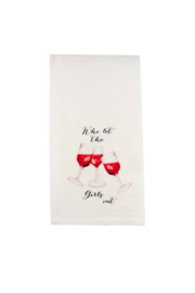 The Birds Nest WHO LET THE GIRLS OUT DISHTOWEL - Product Mini Image