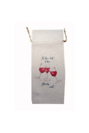 The Birds Nest WHO LET THE GIRLS OUT WINE BAG - Product Mini Image