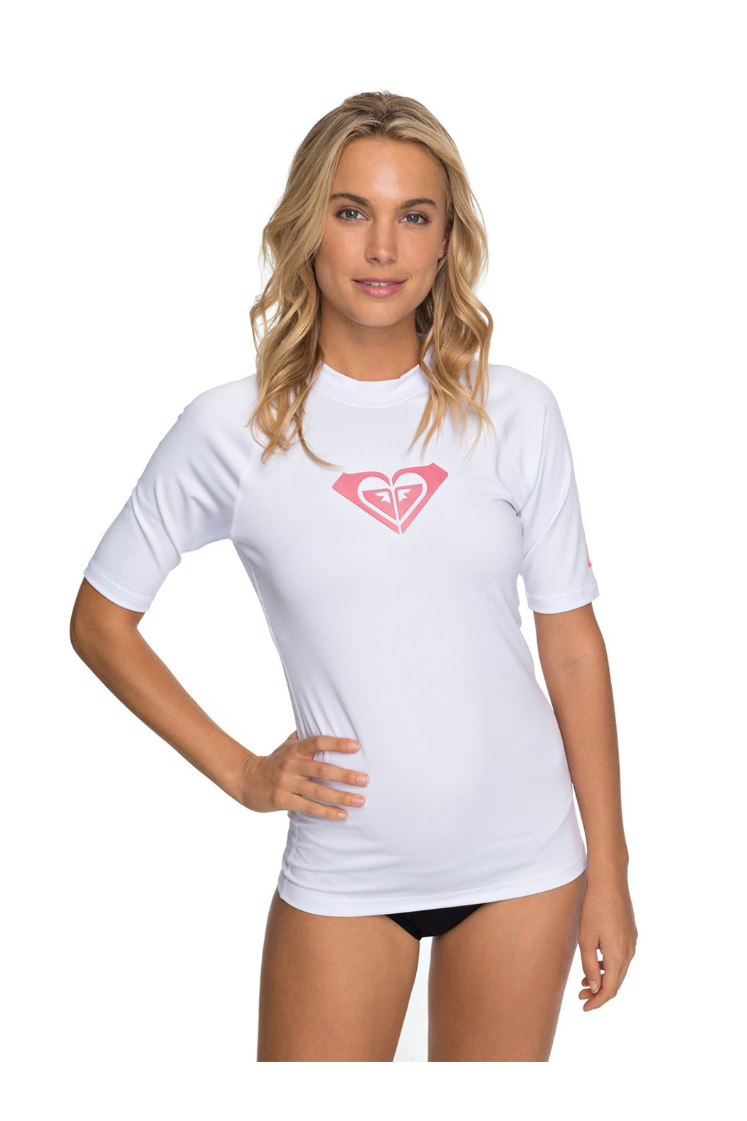 Roxy Whole Hearted SS Rash Guard - Front Cropped Image