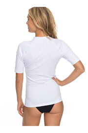 Roxy Whole Hearted SS Rash Guard - Front full body