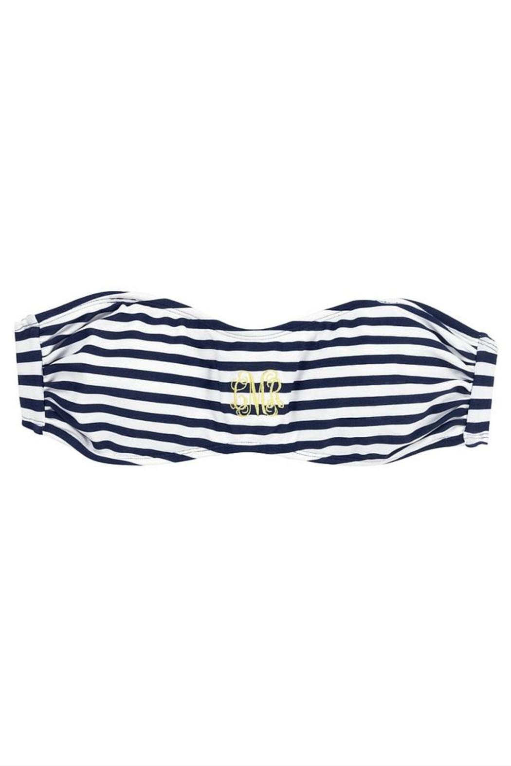 Wholesale Boutique Monogrammed Bandeau Top - Front Full Image