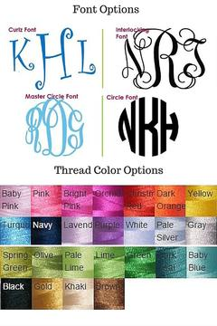 Wholesale Boutique Monogrammed Infinity Scarf - Alternate List Image