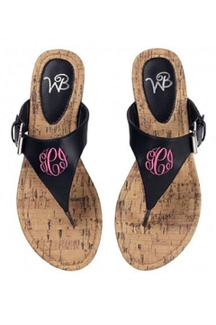 Shoptiques Product: Monogrammed Sandals
