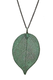 Wholesale Boutique Patina Leaf Necklace - Product Mini Image