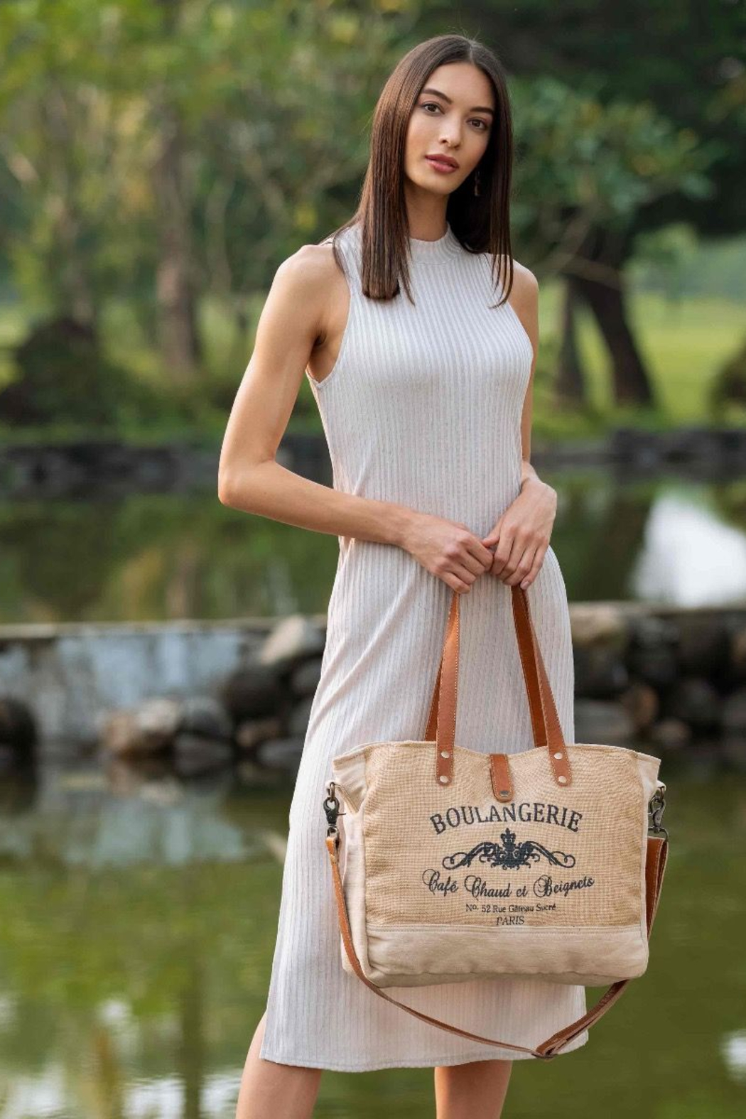 Myra Bag  WHOLESOME ORGANIC FABRIC MARKET BAG - Front Full Image