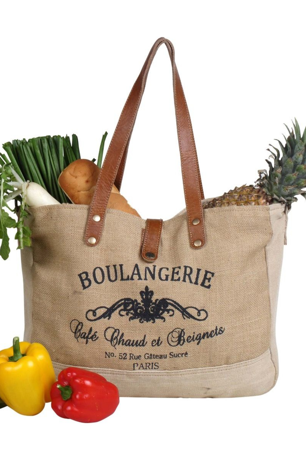 Myra Bag  WHOLESOME ORGANIC FABRIC MARKET BAG - Front Cropped Image
