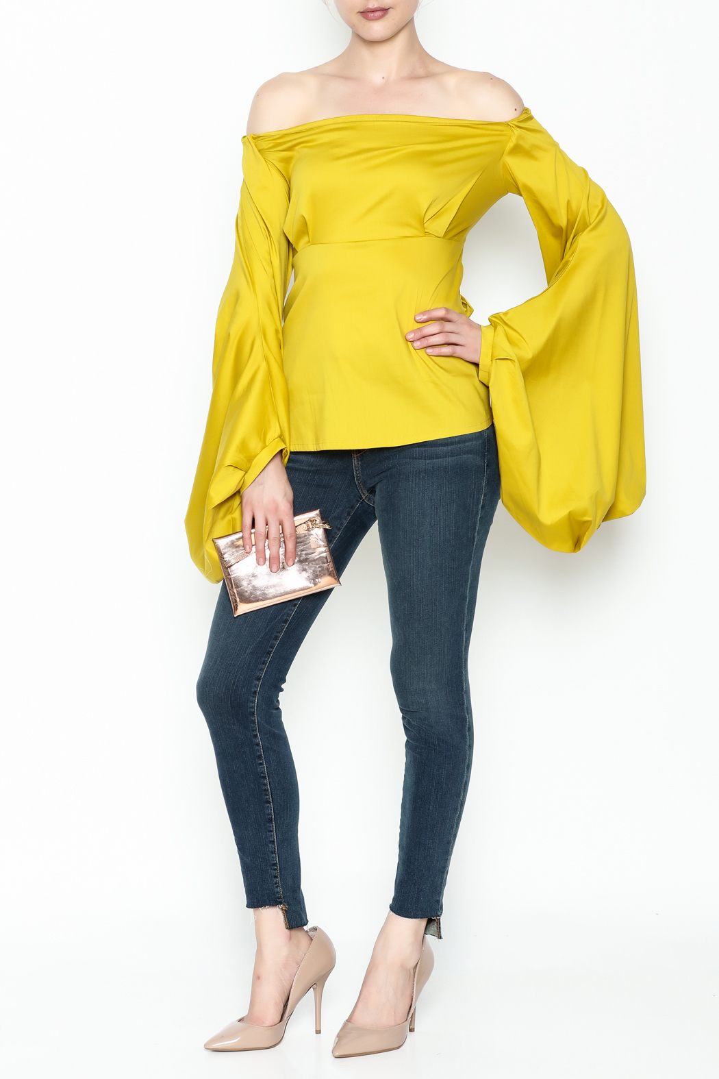 WHY DRESS Spice Bell Sleeve Top - Side Cropped Image