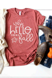 kissed Apparel Why Hello There Fall Graphic Tee - Product Mini Image