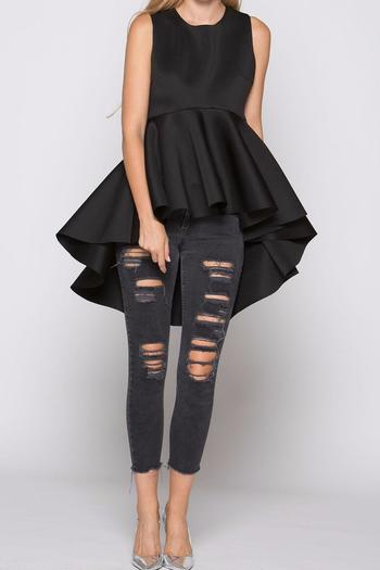 Why Dress High Low Peplum Top Shoptiques