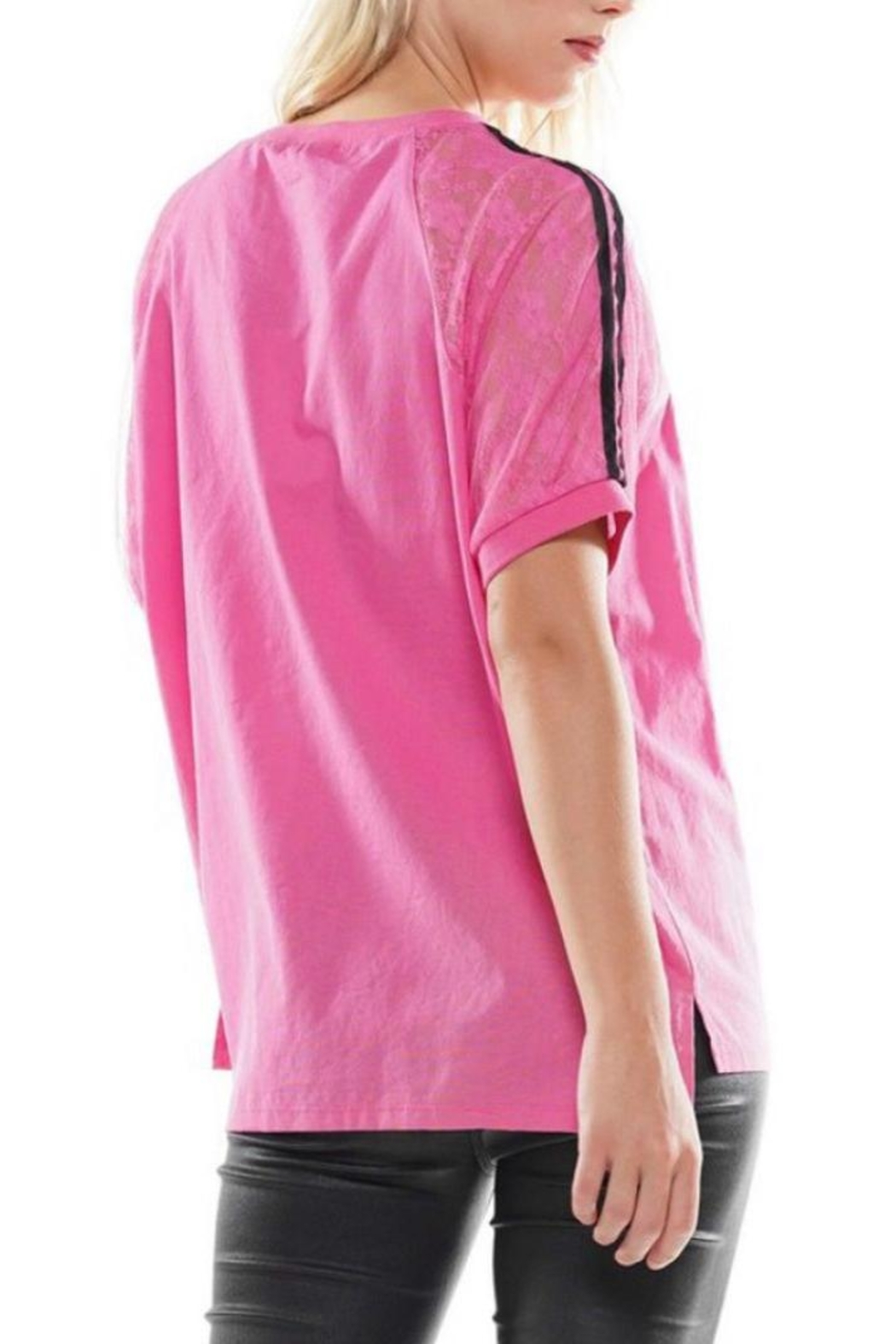 WHY DRESS Pink Graphic Tee - Front Full Image