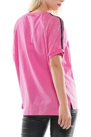WHY DRESS Pink Graphic Tee - Front full body