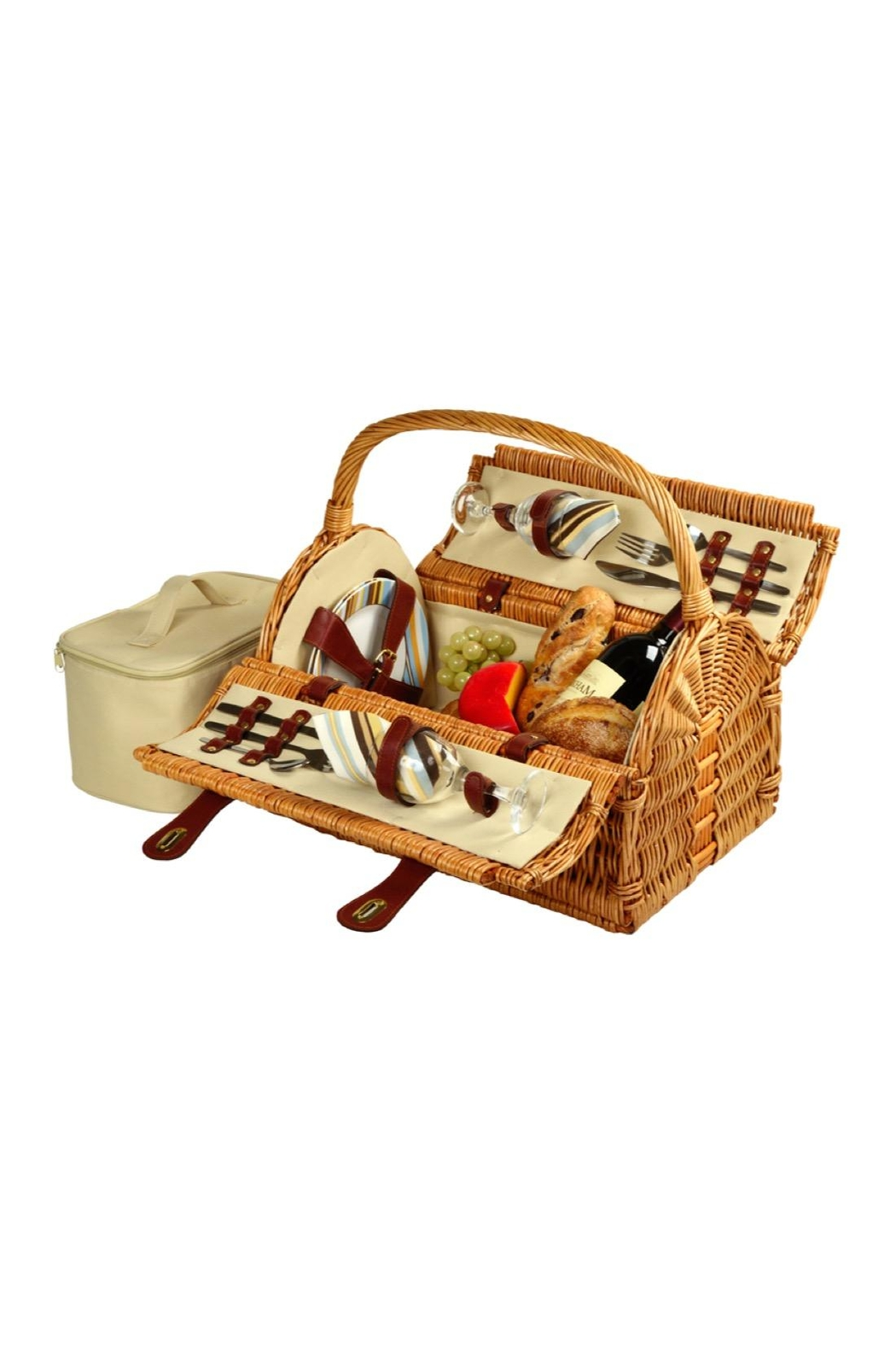 Picnic at Ascot  Wicker Picnic Set - Front Cropped Image