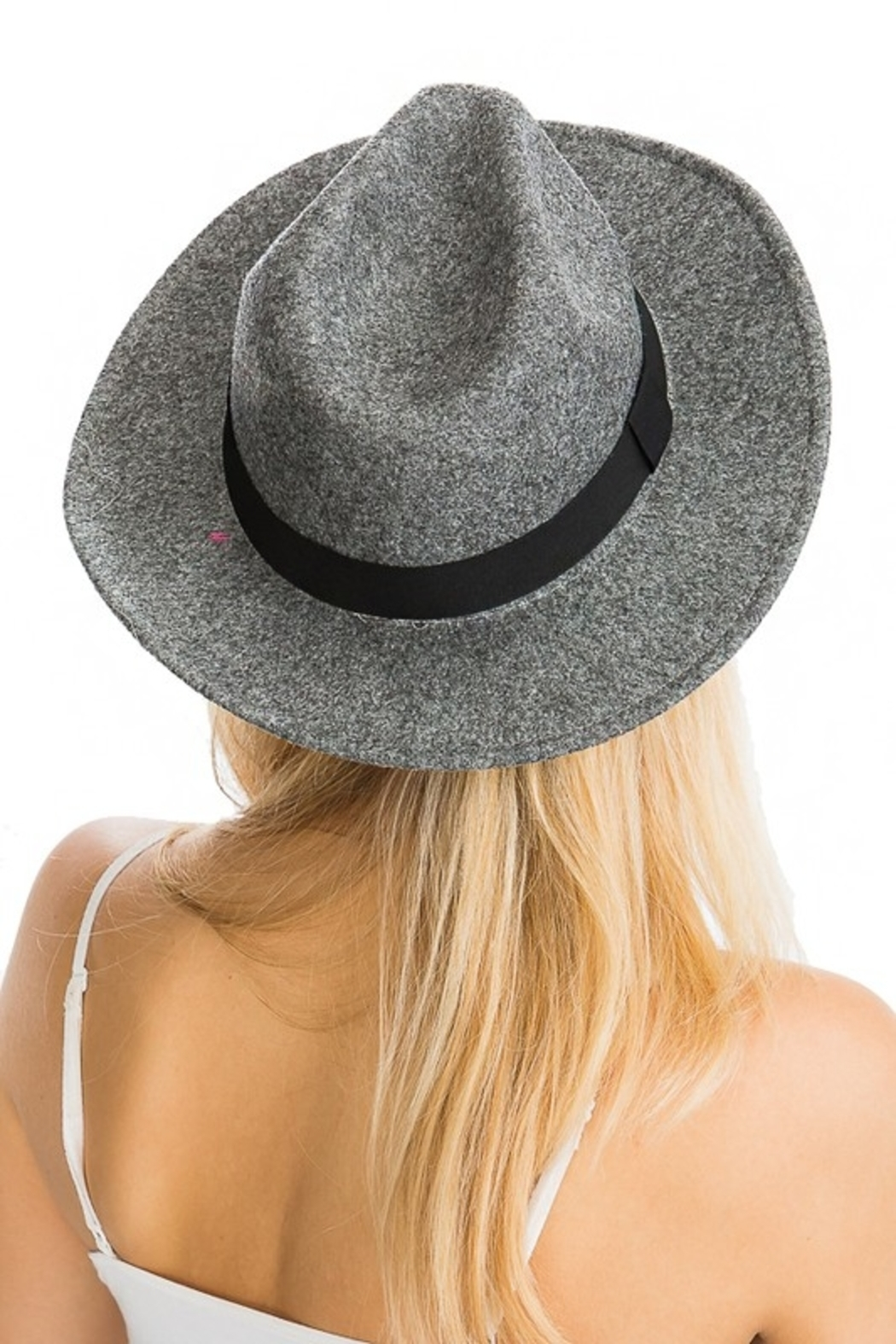 Cap Zone Wide Brim Fedora - Front Cropped Image