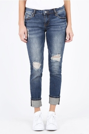 Kut from the Kloth Wide-Cuff Boyfriend Jeans - Product Mini Image