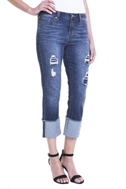 Liverpool Jean Company Wide Cuff Denim - Front cropped