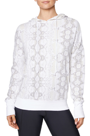 Betsey Johnson Wide Cuff Python Hoodie - Front cropped