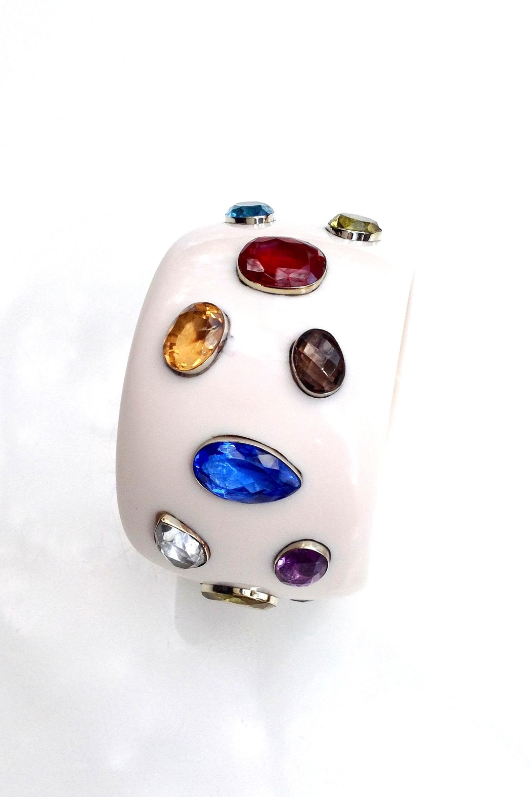 GHome2 Wide Jeweled Bangle - Side Cropped Image