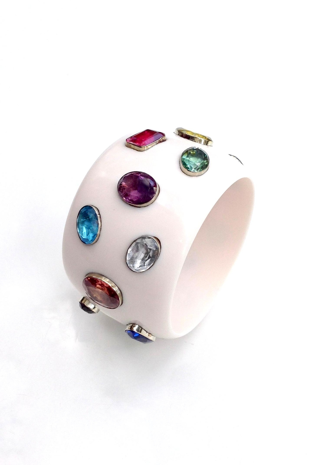 GHome2 Wide Jeweled Bangle - Front Cropped Image