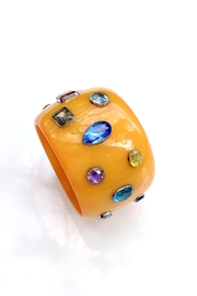 GHome2 Wide Jeweled Bangle - Front cropped
