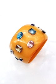GHome2 Wide Jeweled Bangle - Front full body