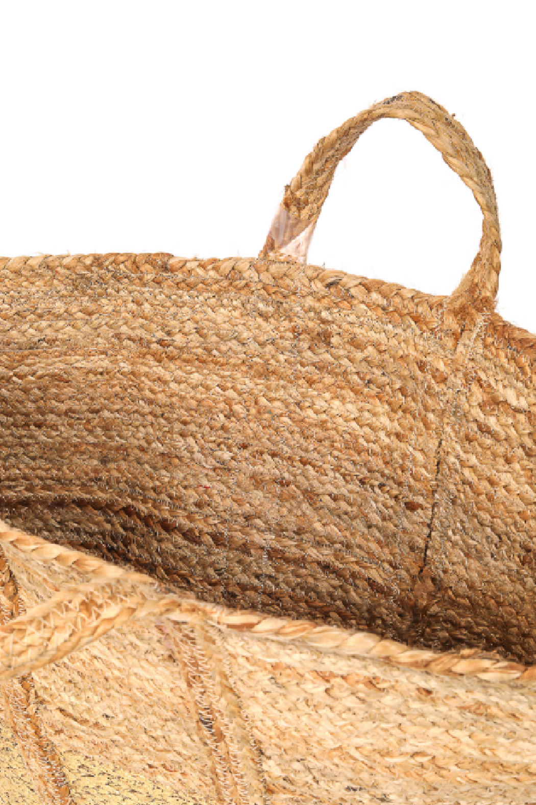 Fame Accessories Wide Jute Tote - Front Full Image