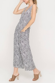 Lush Clothing  Wide-Leg Animal-Print Jumpsuit - Product Mini Image