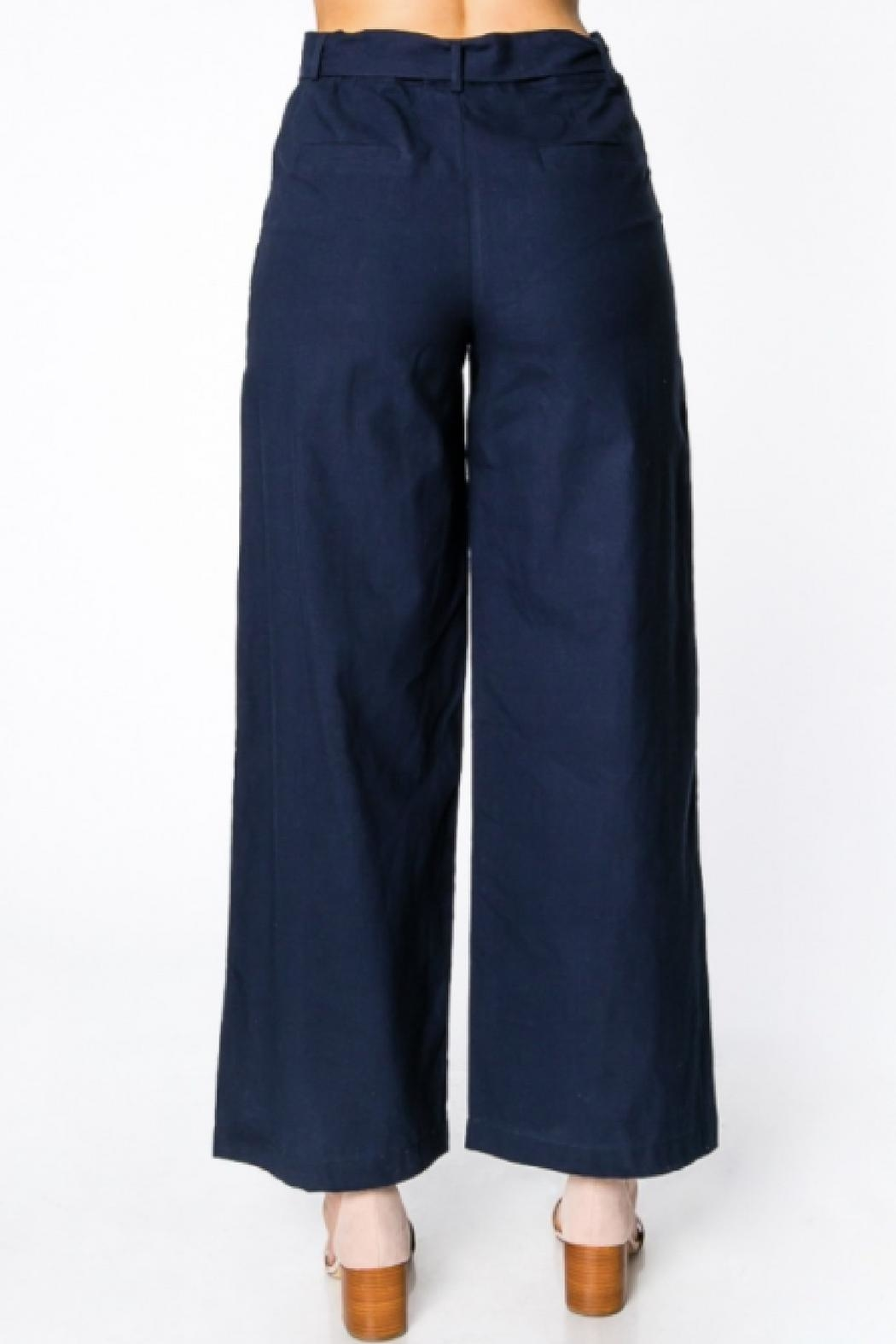 Everly Wide-Leg Belted Pants - Back Cropped Image