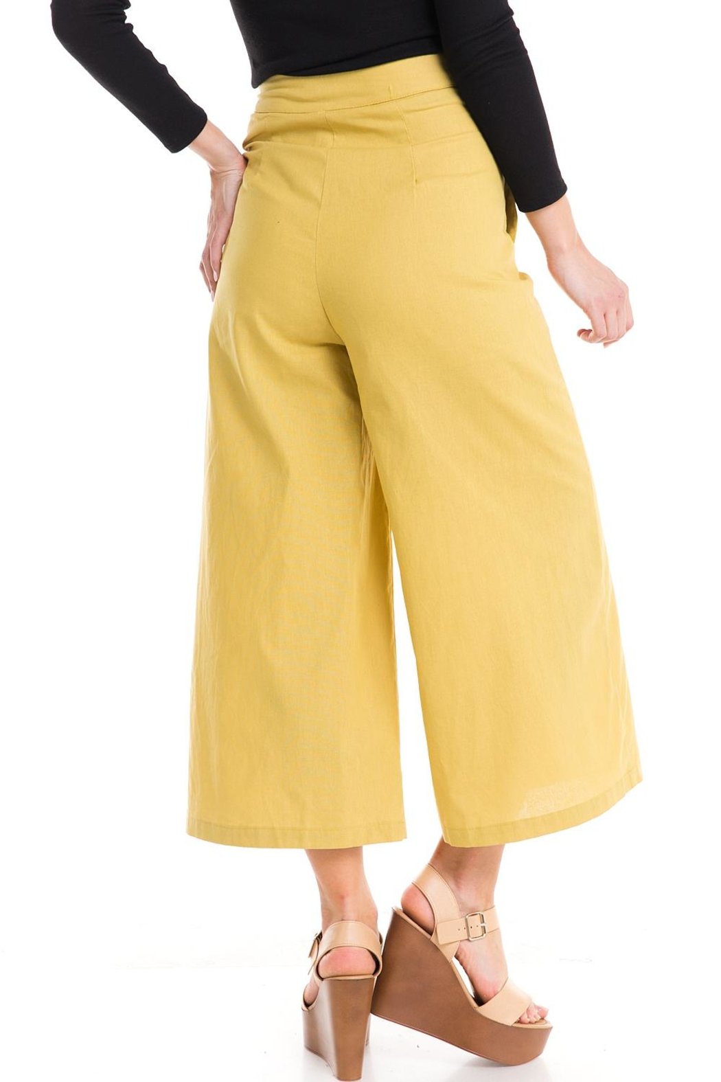 Do & Be Wide-Leg Button Pants - Back Cropped Image