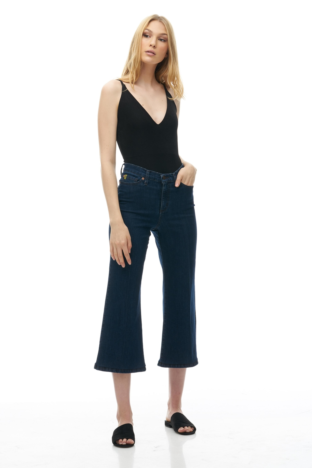 Yoga Jeans Wide Leg Crop - Front Cropped Image