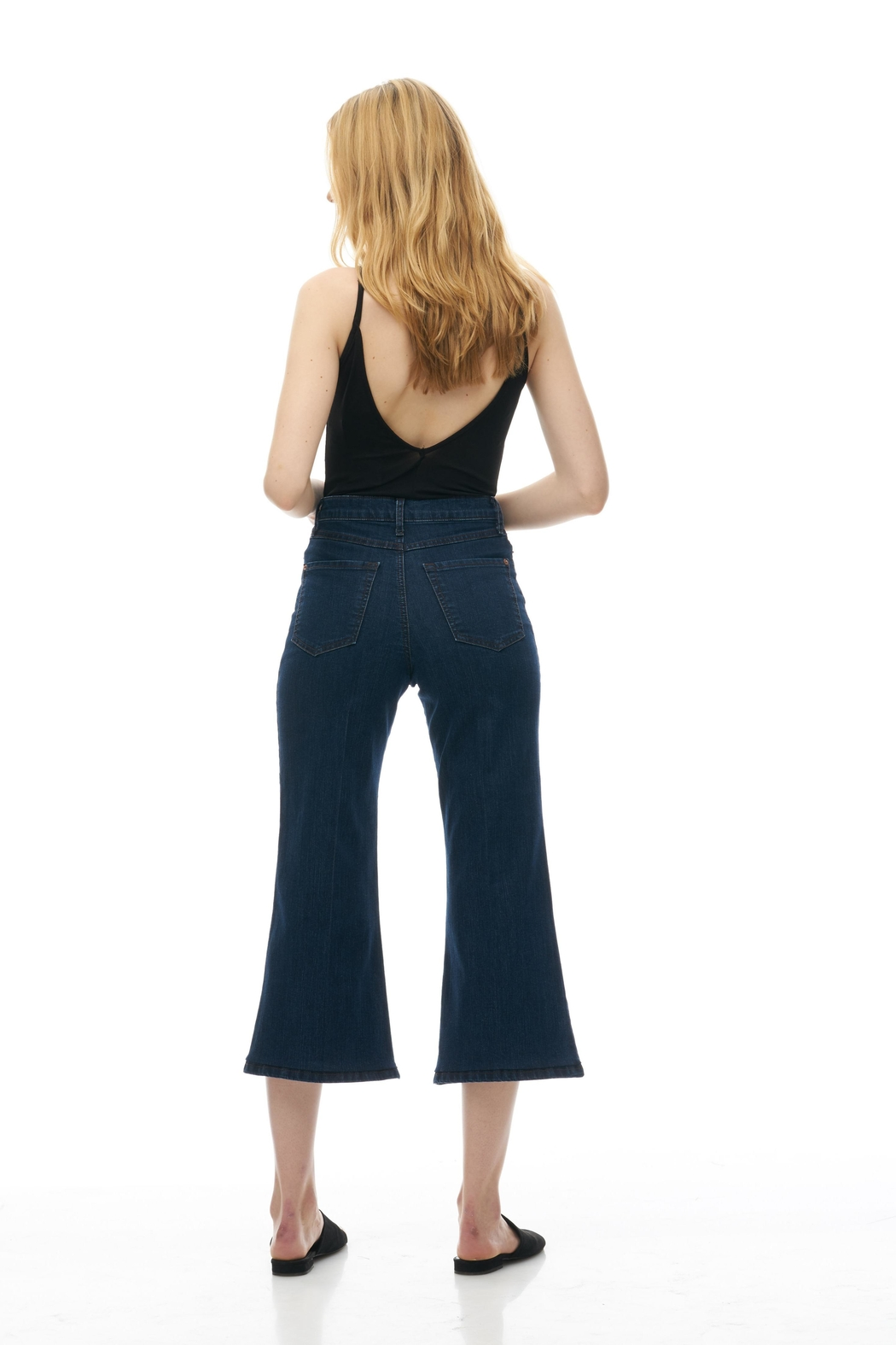 Yoga Jeans Wide Leg Crop - Side Cropped Image