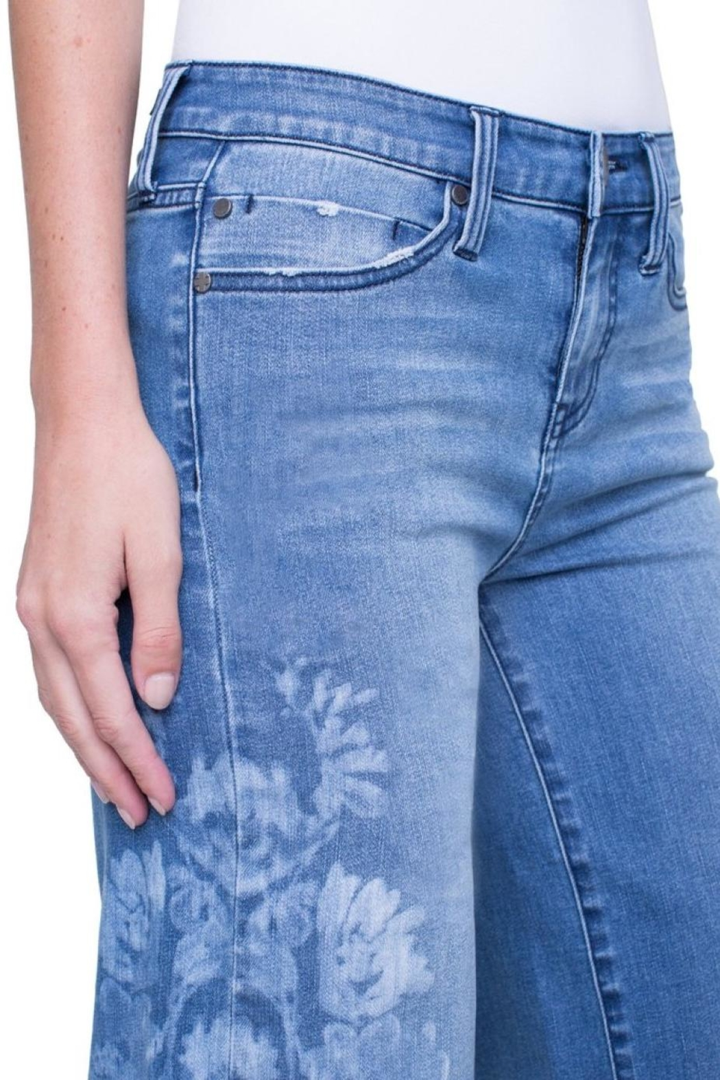 Liverpool Jean Company Wide-Leg Crop - Front Full Image