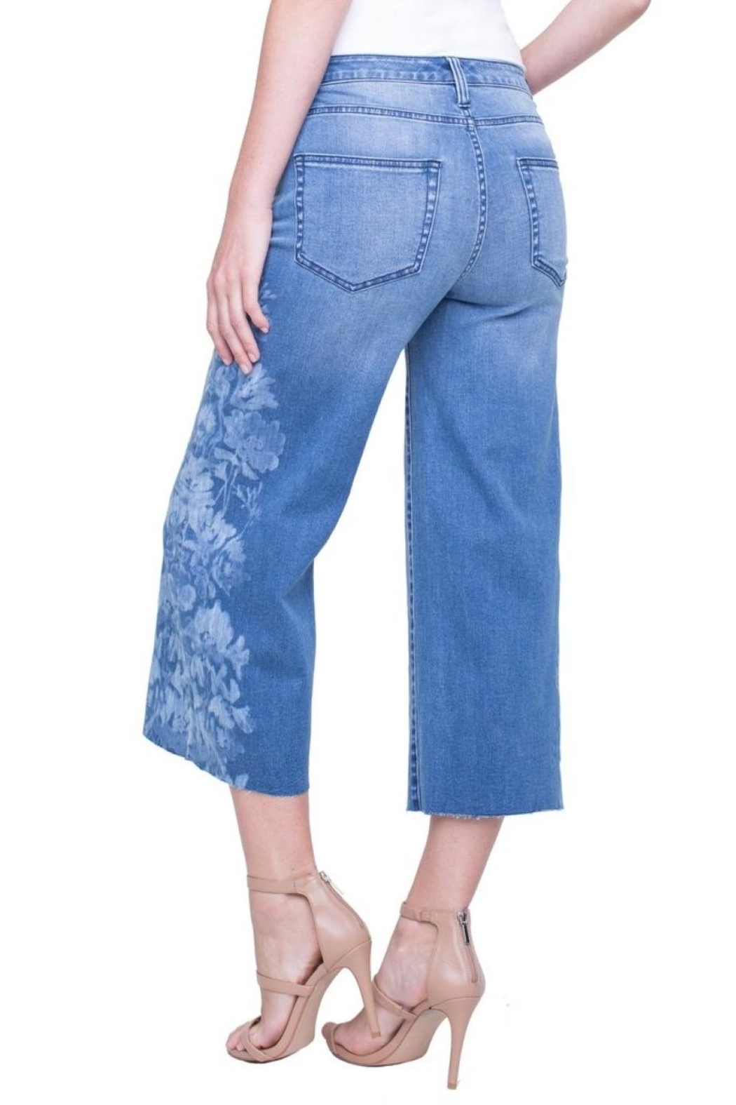 Liverpool Jean Company Wide-Leg Crop - Side Cropped Image