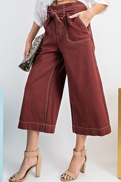Esley Wide Leg Crop Pants - Alternate List Image