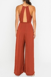 Lush Clothing  Wide-Leg Drawstring-Waist Jumpsuit - Front full body