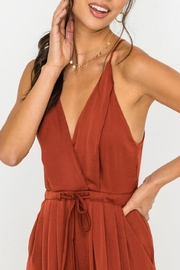Lush Clothing  Wide-Leg Drawstring-Waist Jumpsuit - Side cropped