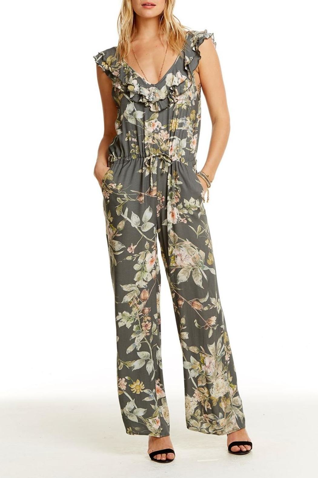 Chaser Wide Leg Jumpsuit - Front Full Image