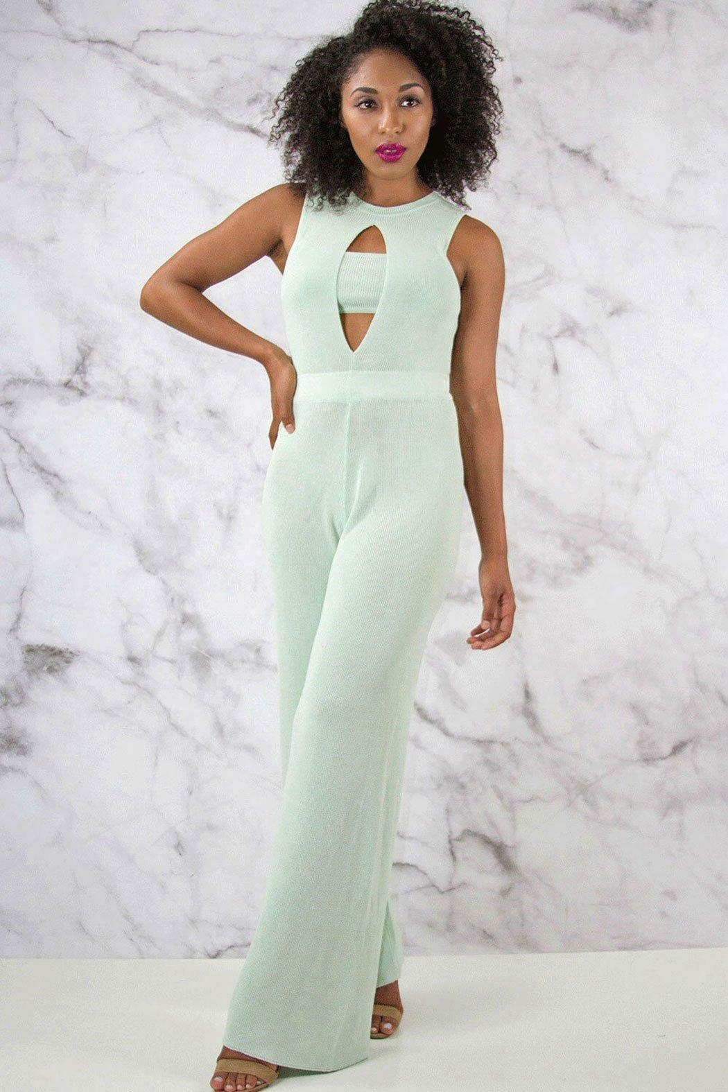 Rehab Wide Leg Jumpsuit - Back Cropped Image