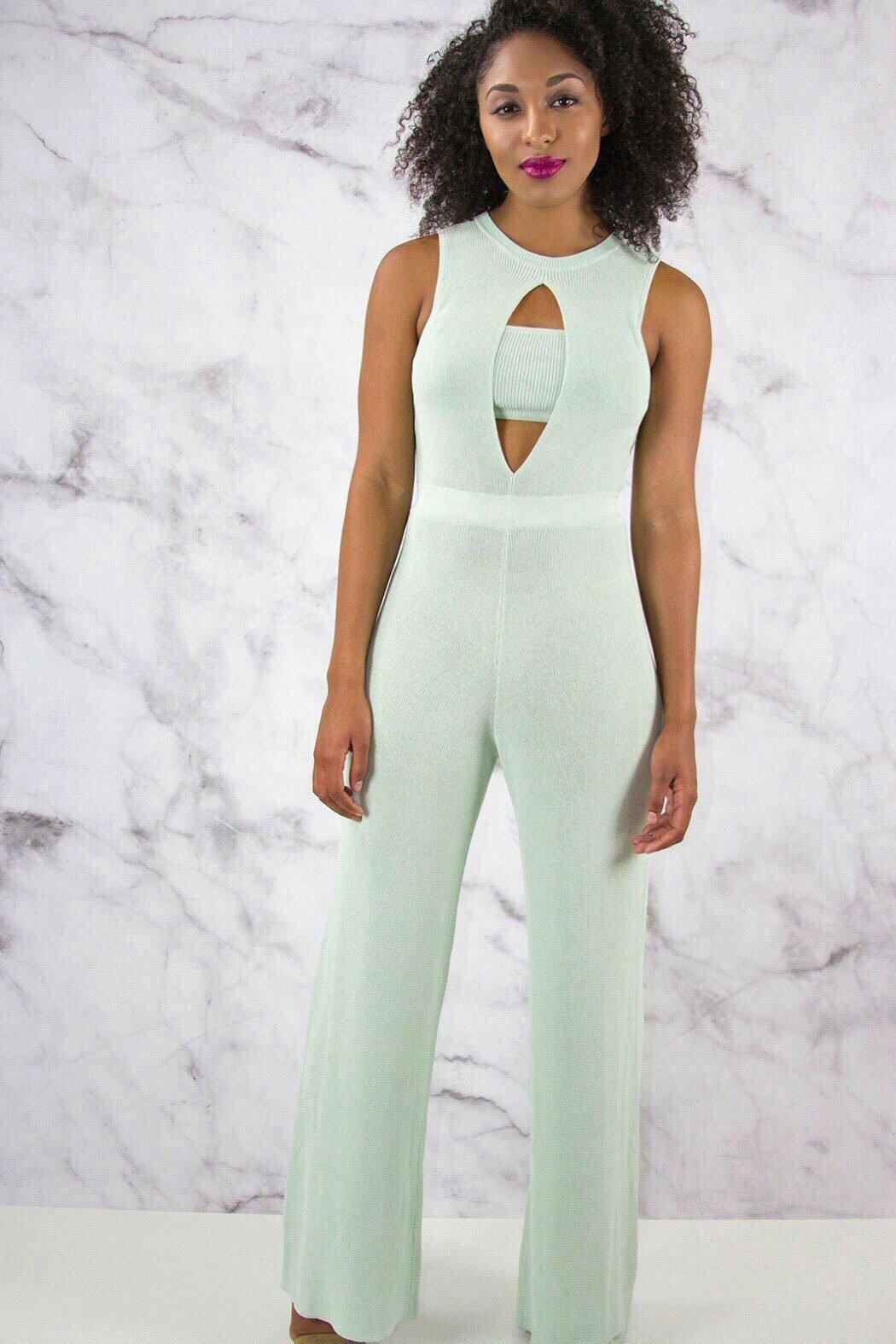 Rehab Wide Leg Jumpsuit - Main Image