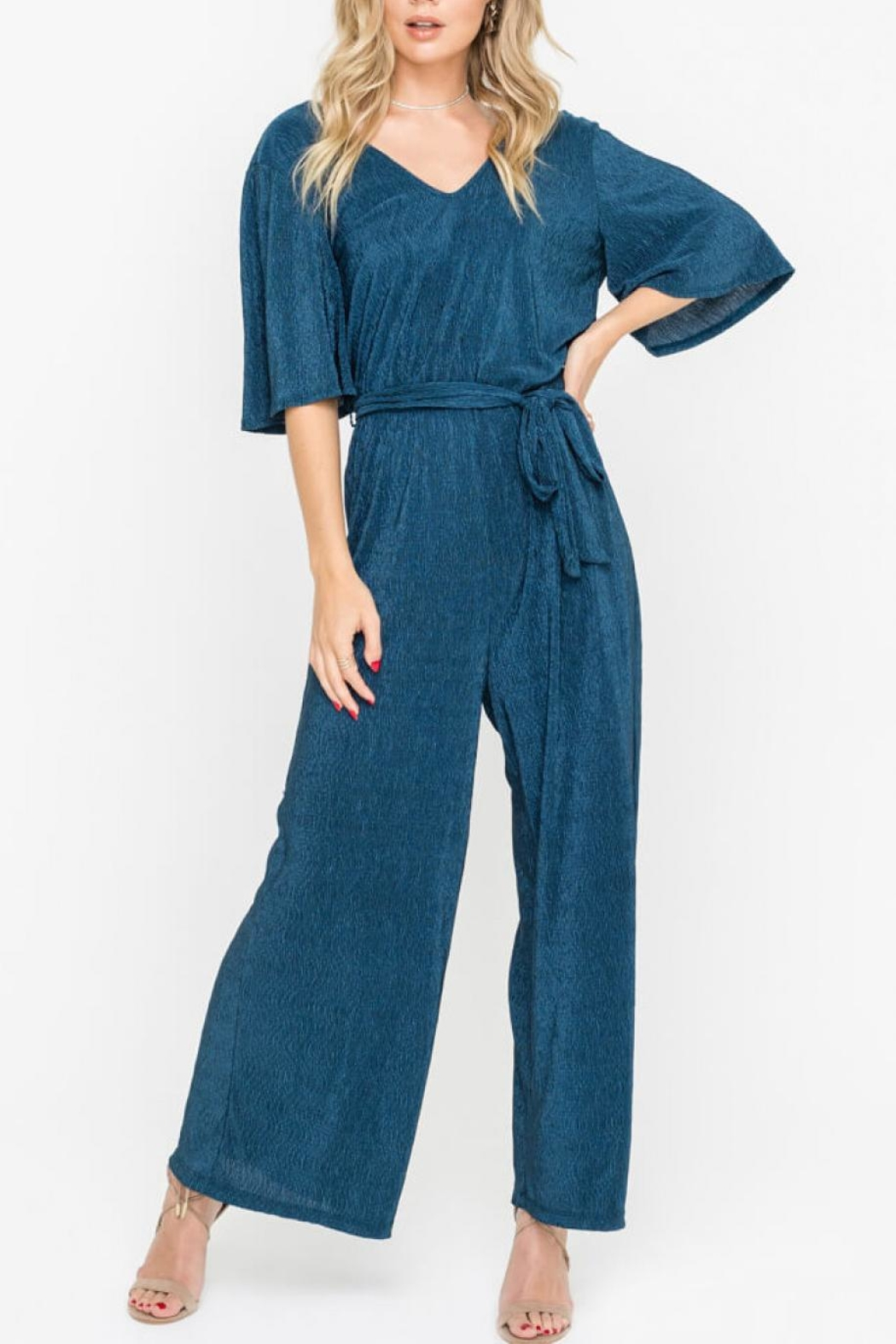 Lush Clothing  Wide Leg Jumpsuit - Front Cropped Image