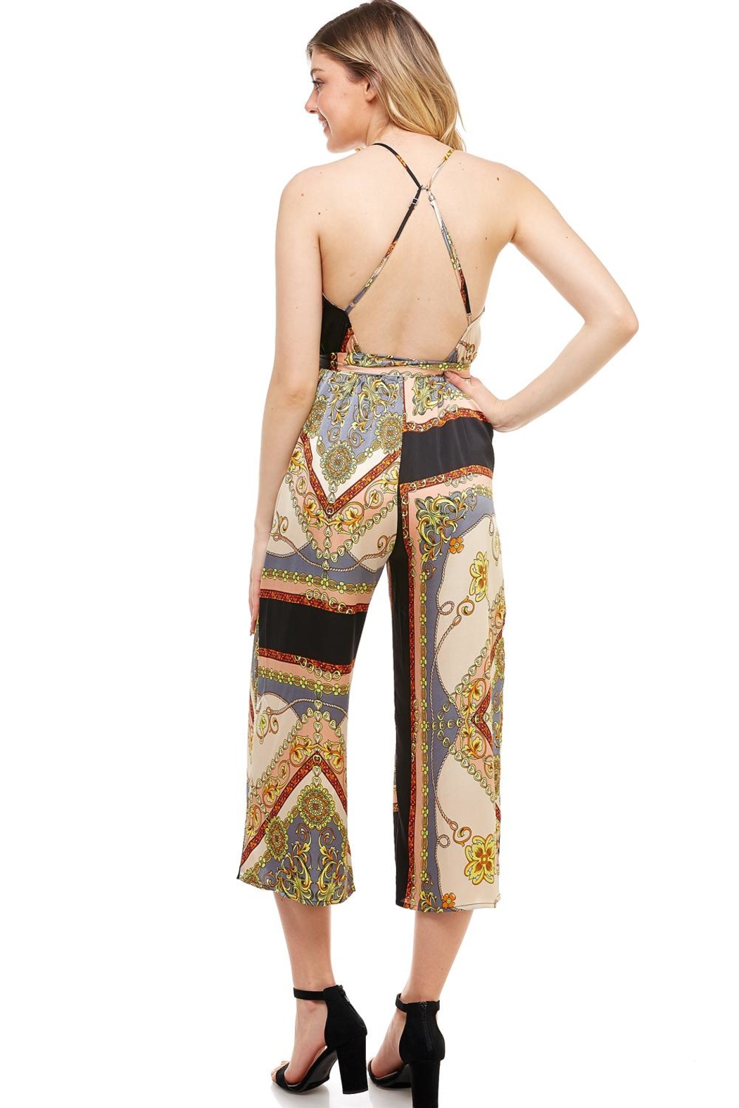 AAKAA Wide Leg Jumpsuit - Side Cropped Image