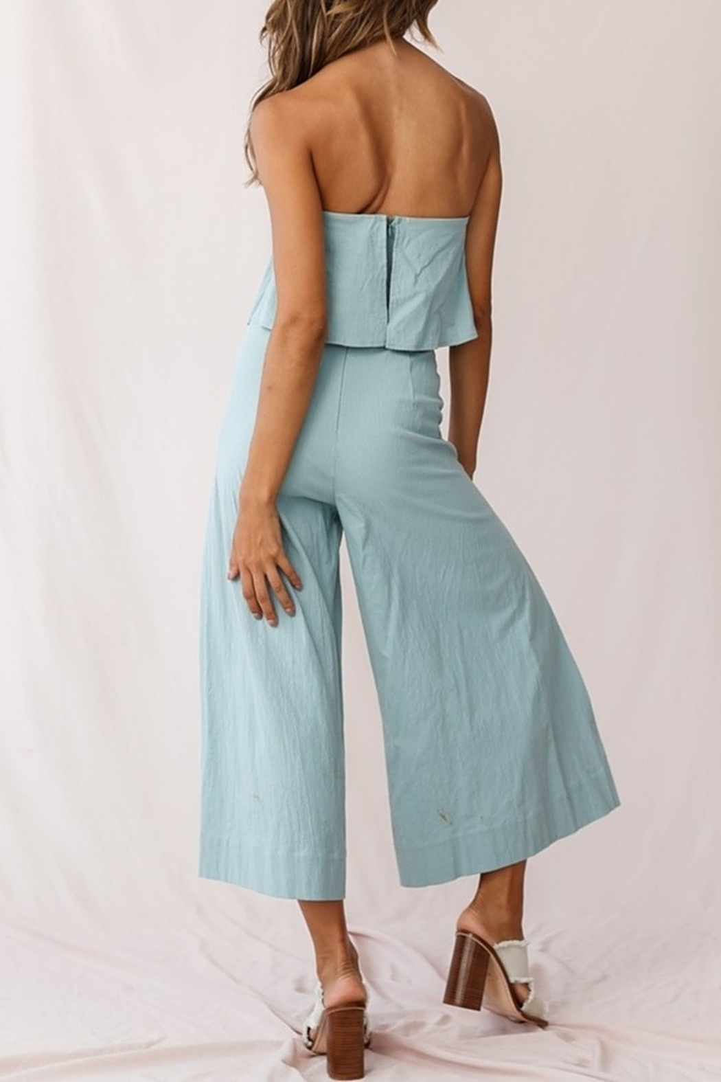 Selfie Leslie  Wide Leg Jumpsuit - Side Cropped Image