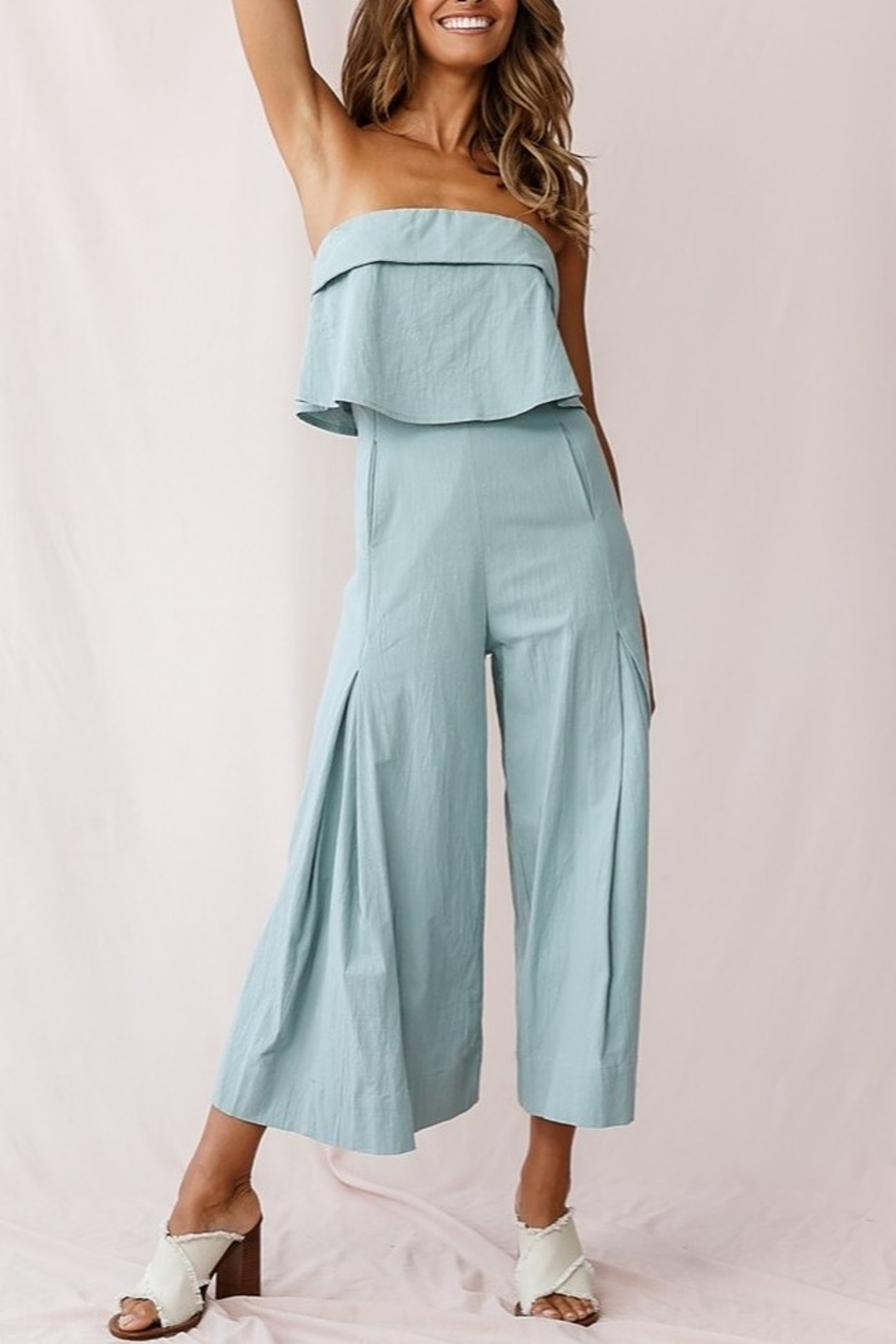 Selfie Leslie  Wide Leg Jumpsuit - Back Cropped Image