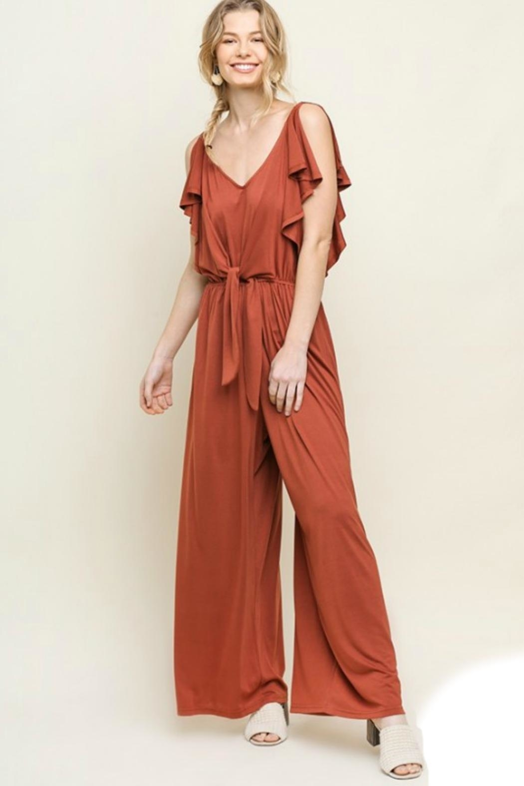 Umgee USA Wide Leg Jumpsuit - Front Cropped Image